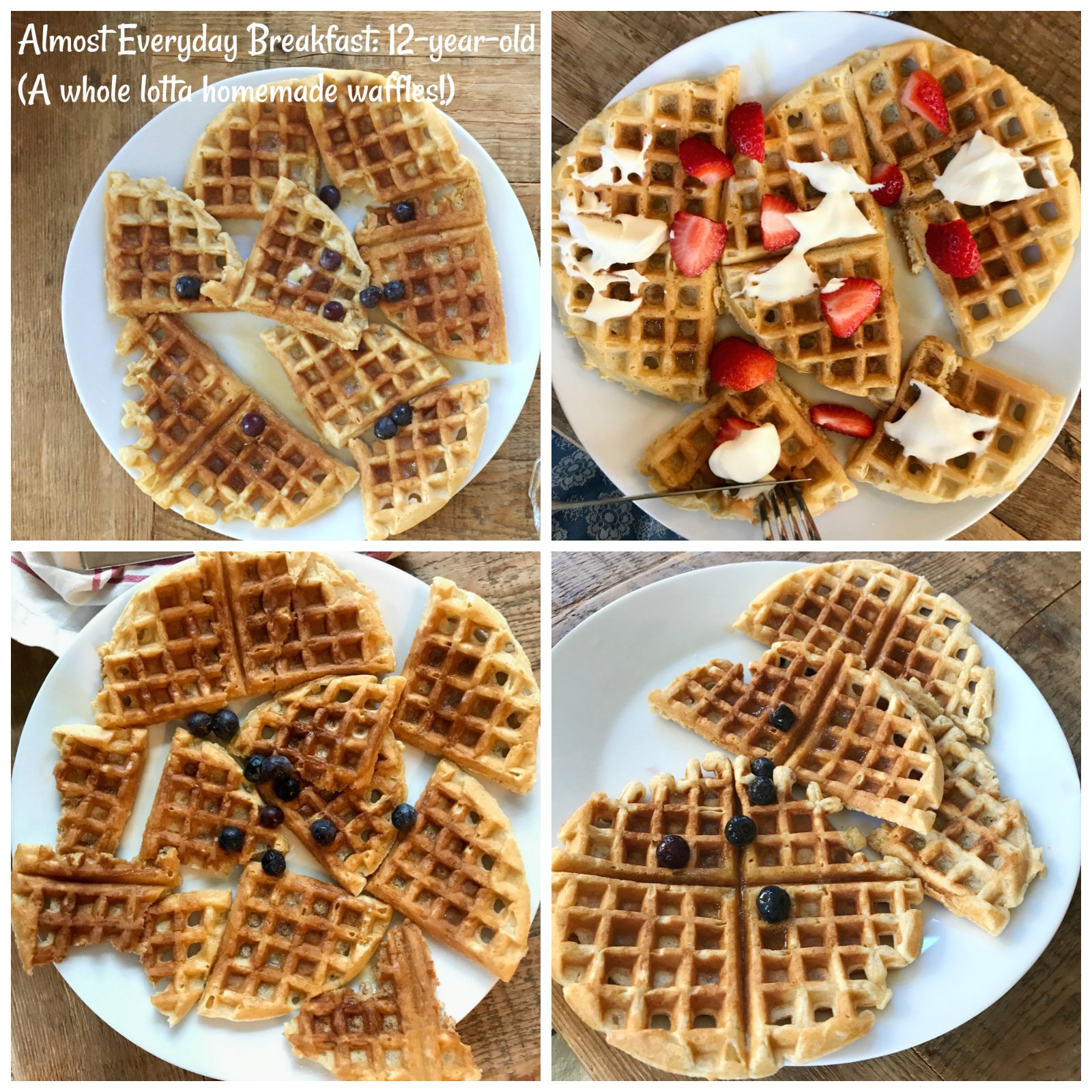 A week of real food breakfast: waffles