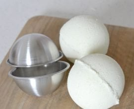 Homemade Natural Bath Bombs on 100 Days of Real Food