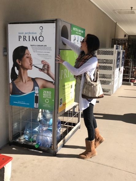 Lisa at a Primo® Water exchange station