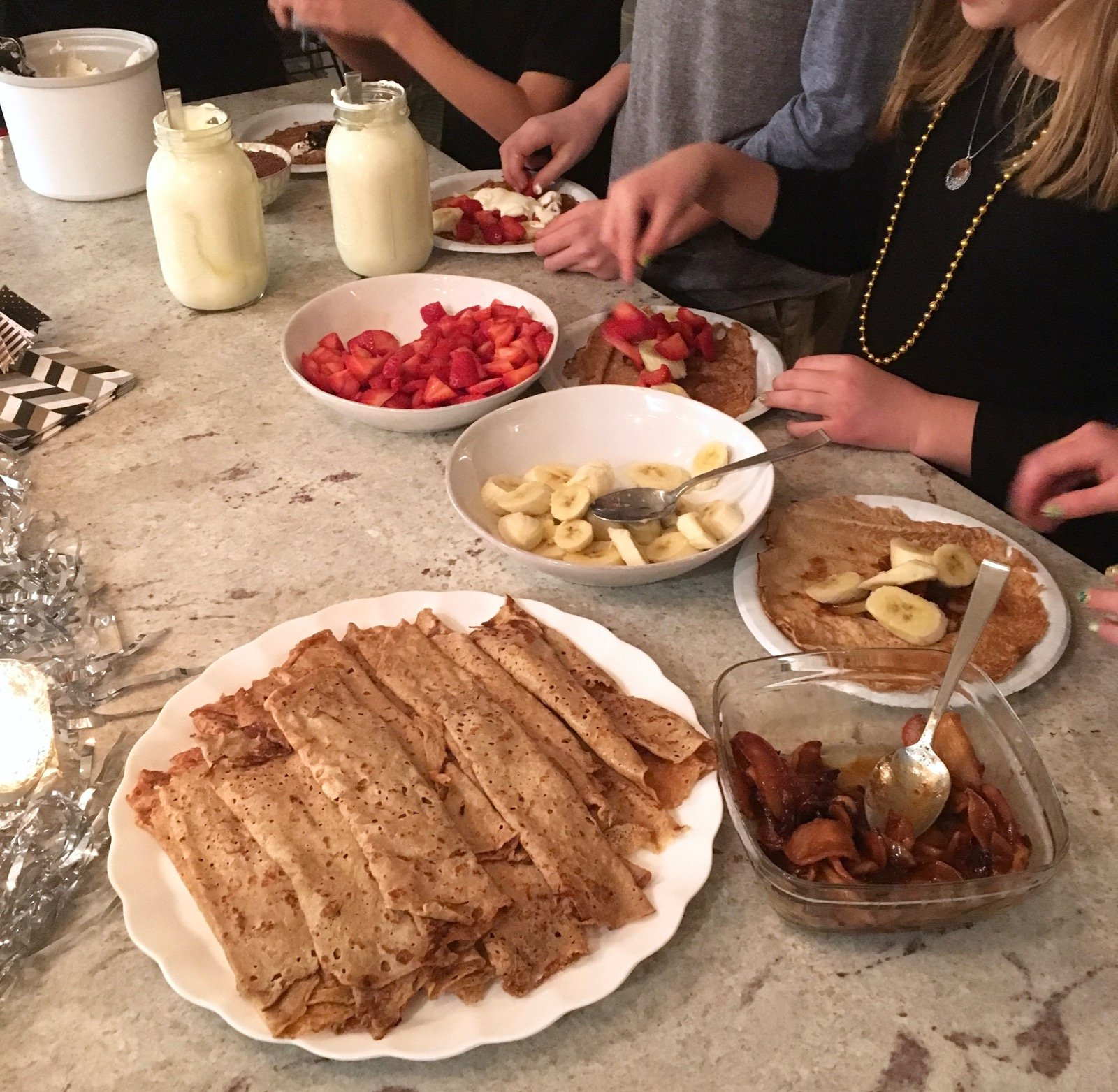 New Years Eve Dessert Bar Crepes