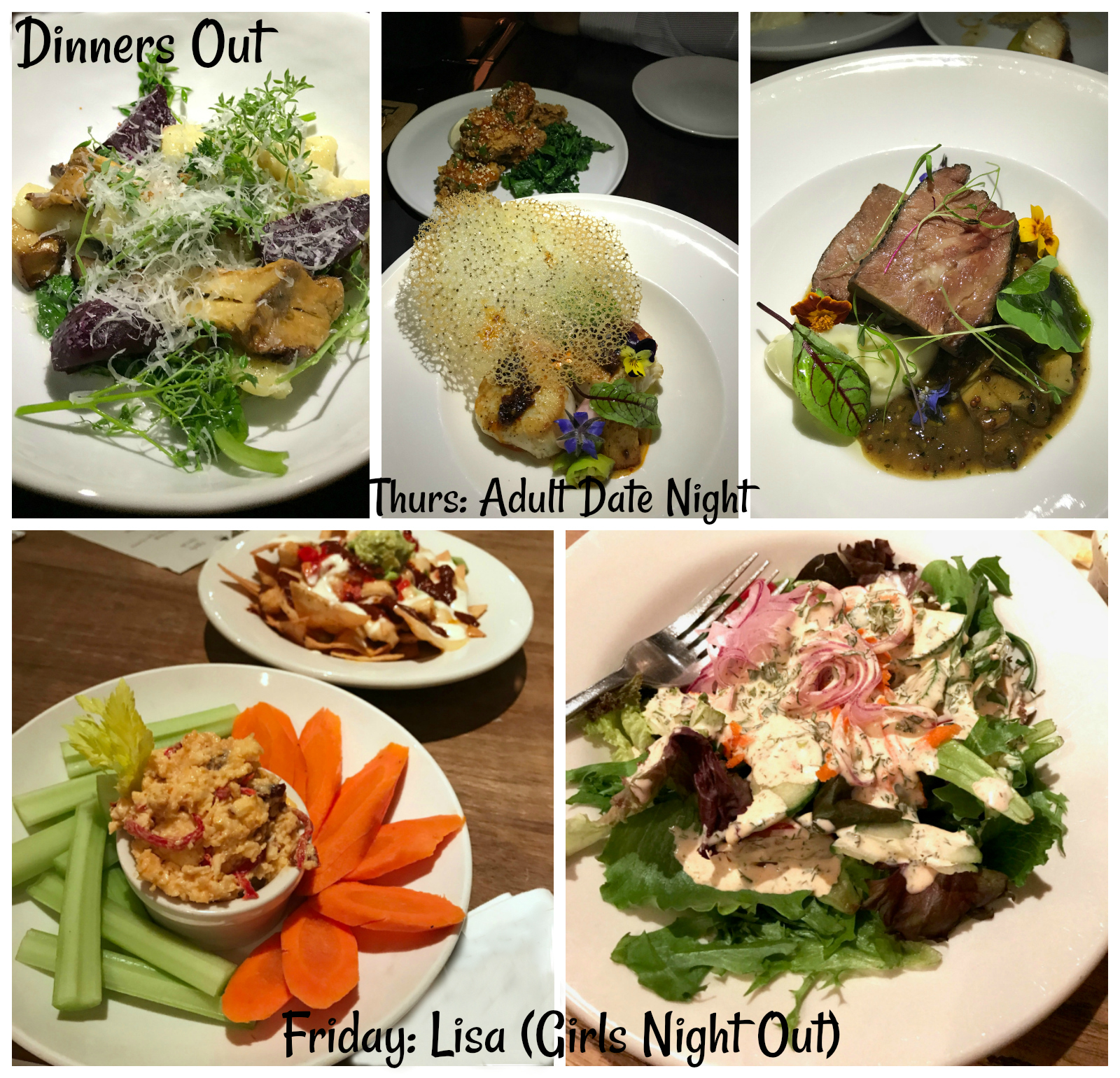 Real Food Dinner: Dinners out