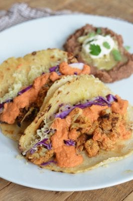 Smoky Cauliflower Tacos (with Blender Romesco Sauce) 2