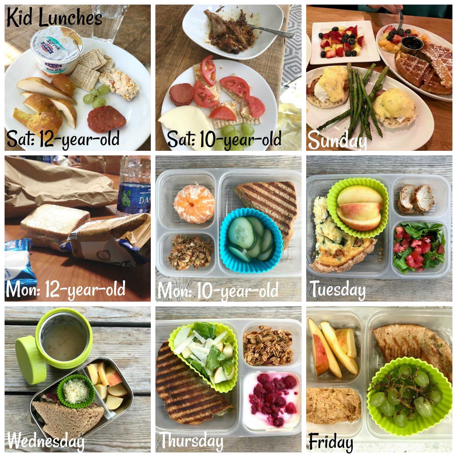 Real Food Lunches for my 10 and 12 year olds