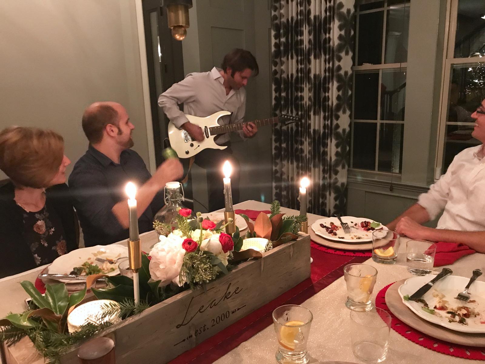 Jason playing guitar