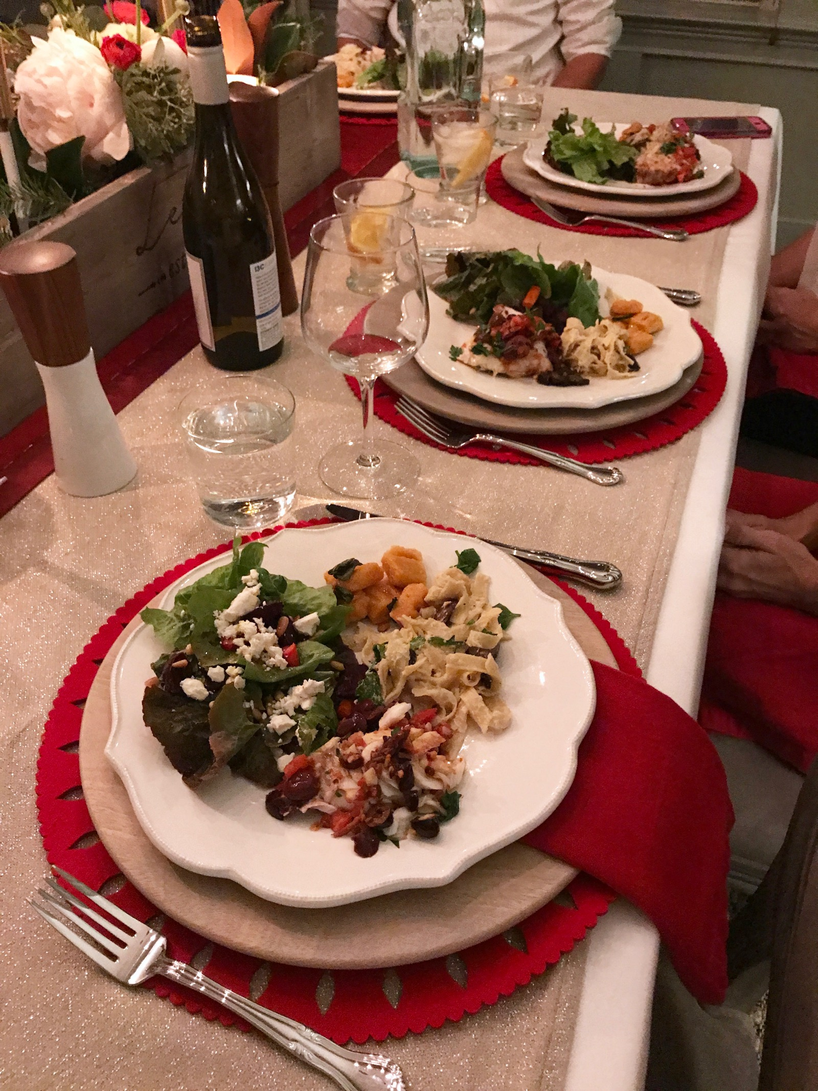 Our GF and DF Team Dinner on 100 Days of Real Food