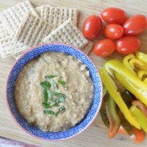 Simple Balsamic White Bean Dip (+ our GF and DF Team Dinner!)