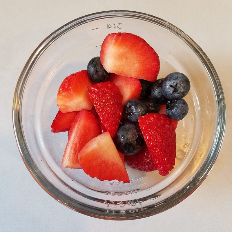 1 cup of mixed fresh blueberries & strawberries