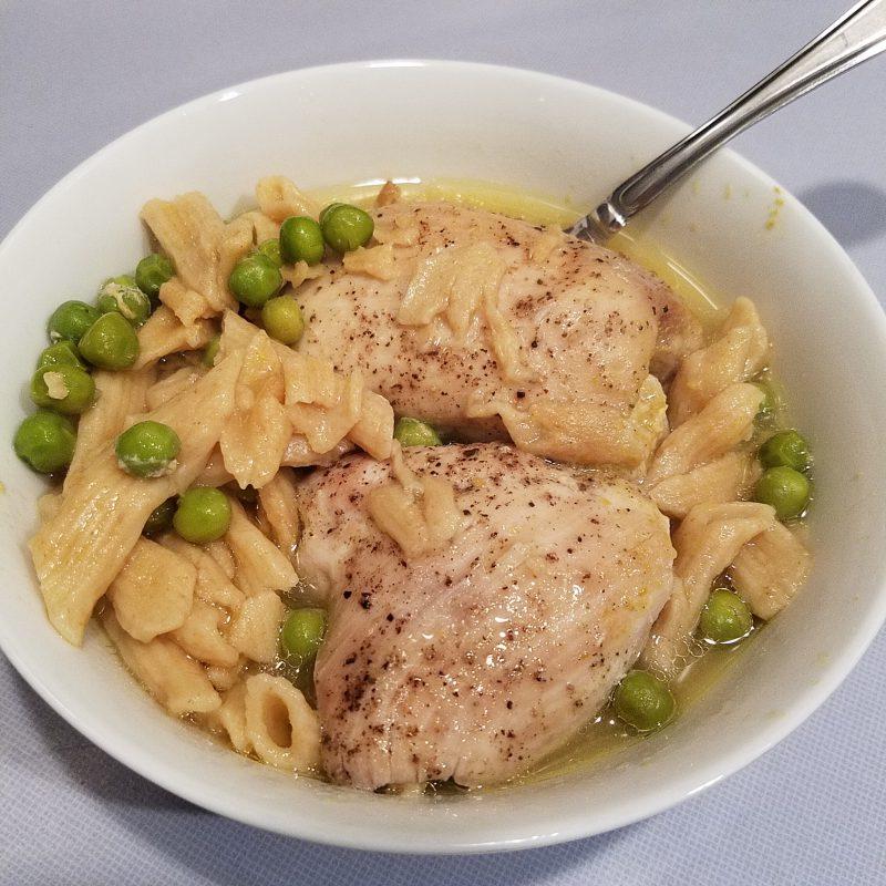 Chicken, peas & noodle casserole