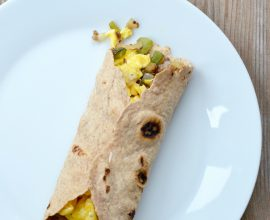 Easy Breakfast Burritos for the Freezer on 100 Days of Real Food