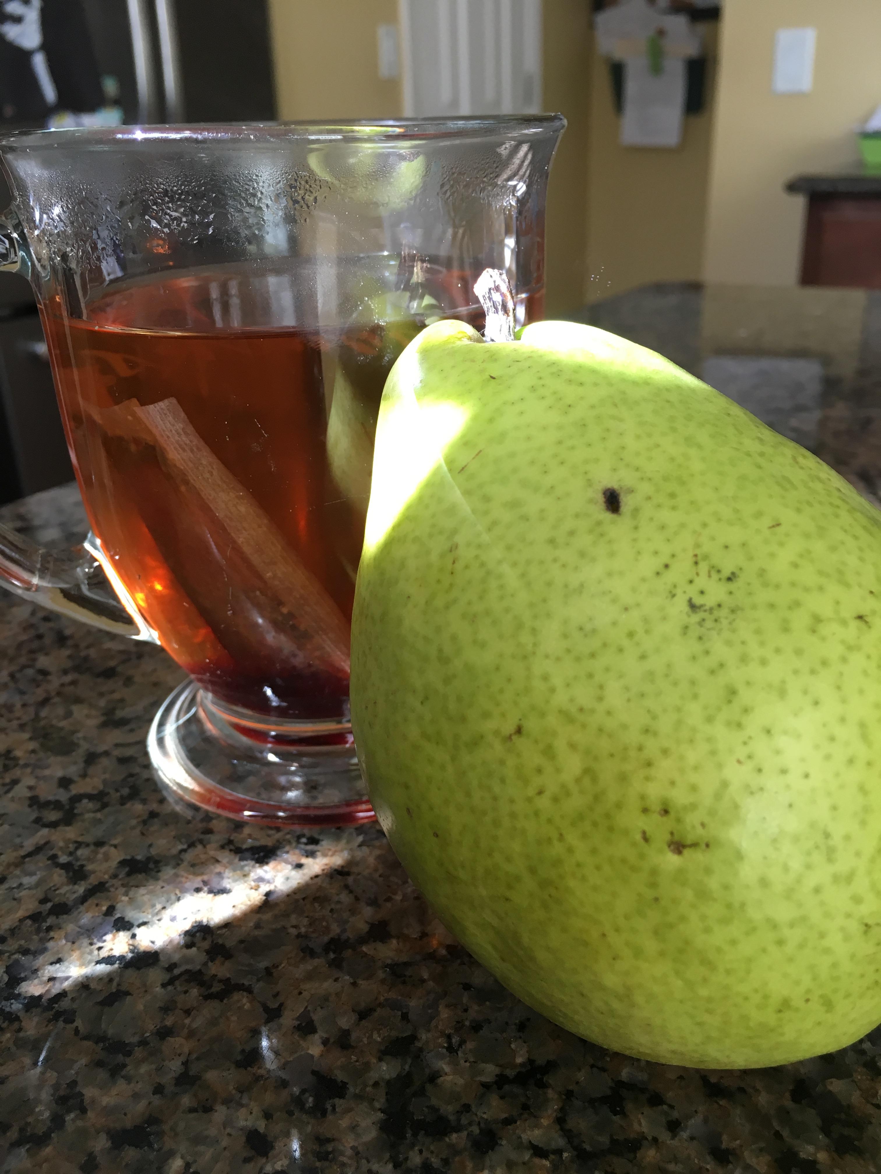 herbal tea and pear