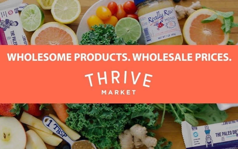 20 real food items at ThriveMarket.com