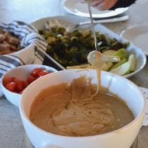 Easy Fondue with Roasted Veggies 1