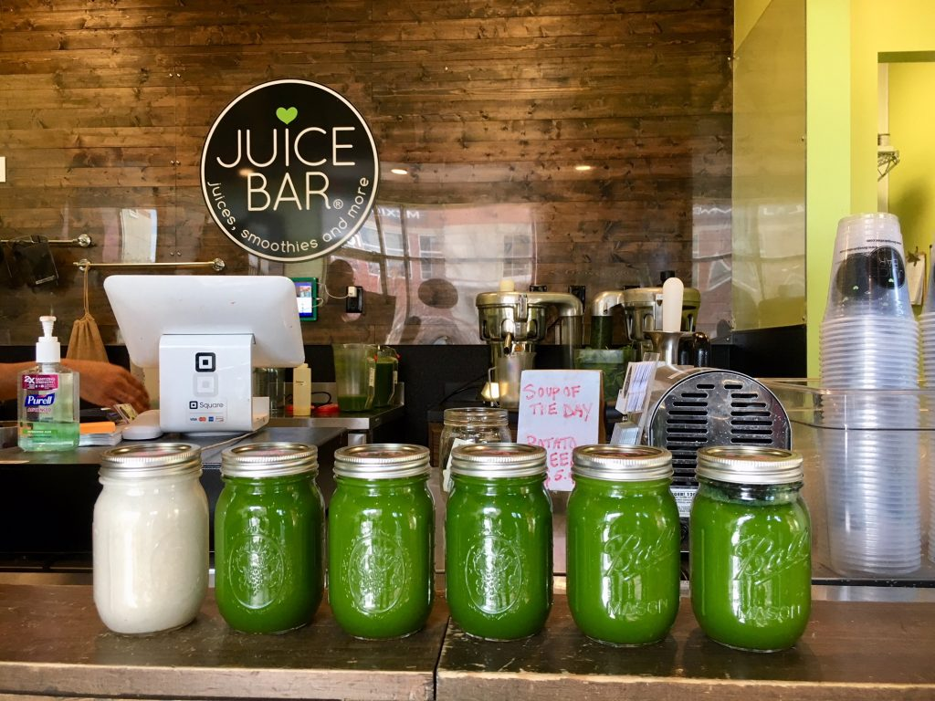Food Diary:Juice Bar juice cleanse