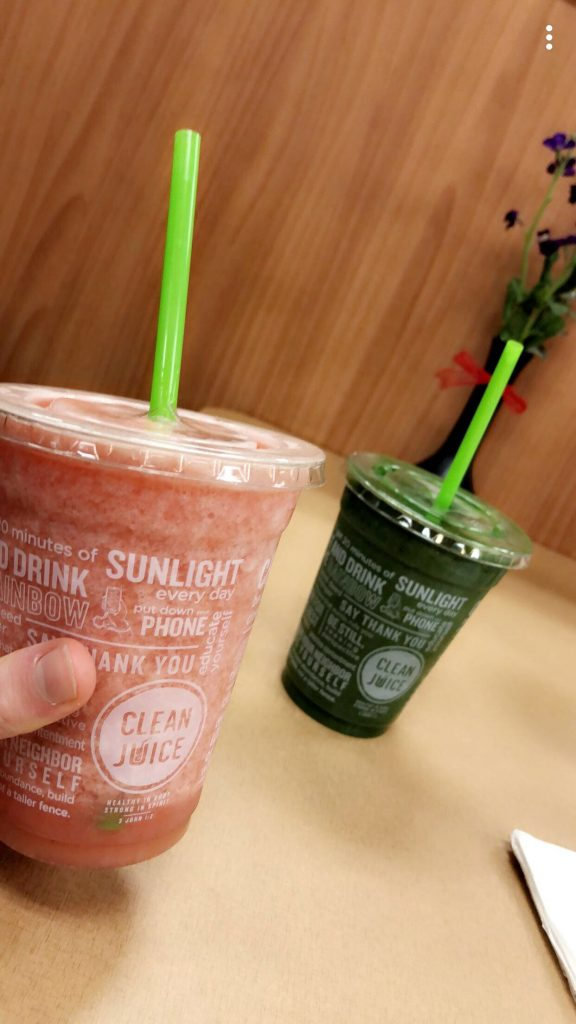 Food Diary: smoothies from Clean Juice