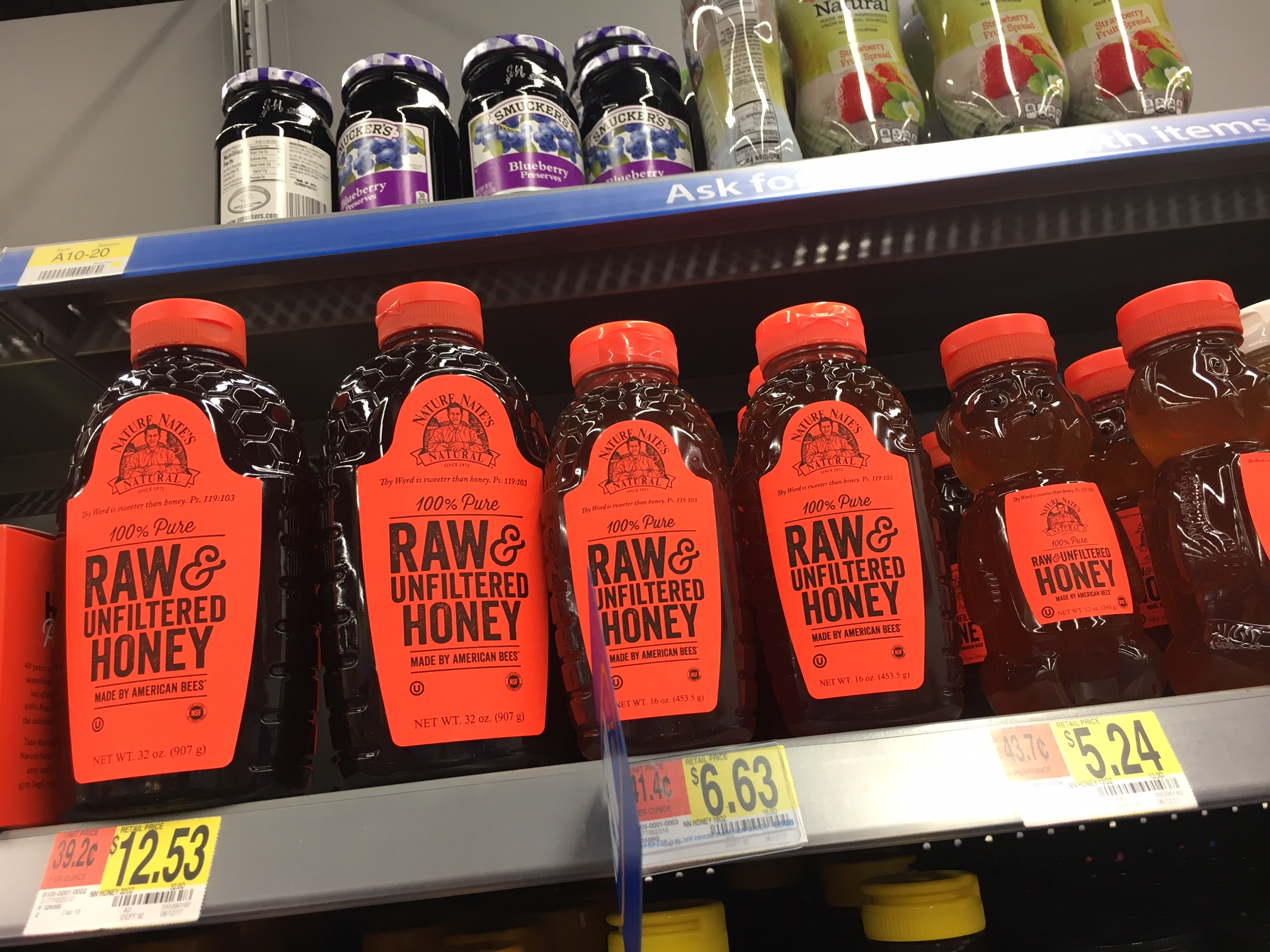 Raw Honey at walmart