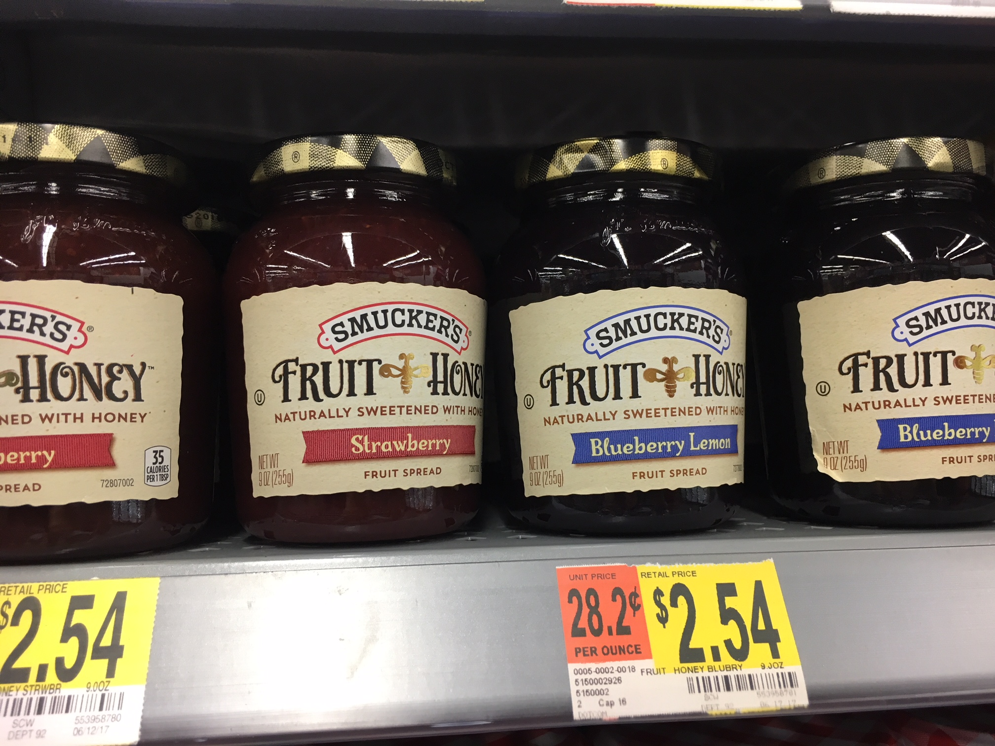 Smuckers Fruit and Honey