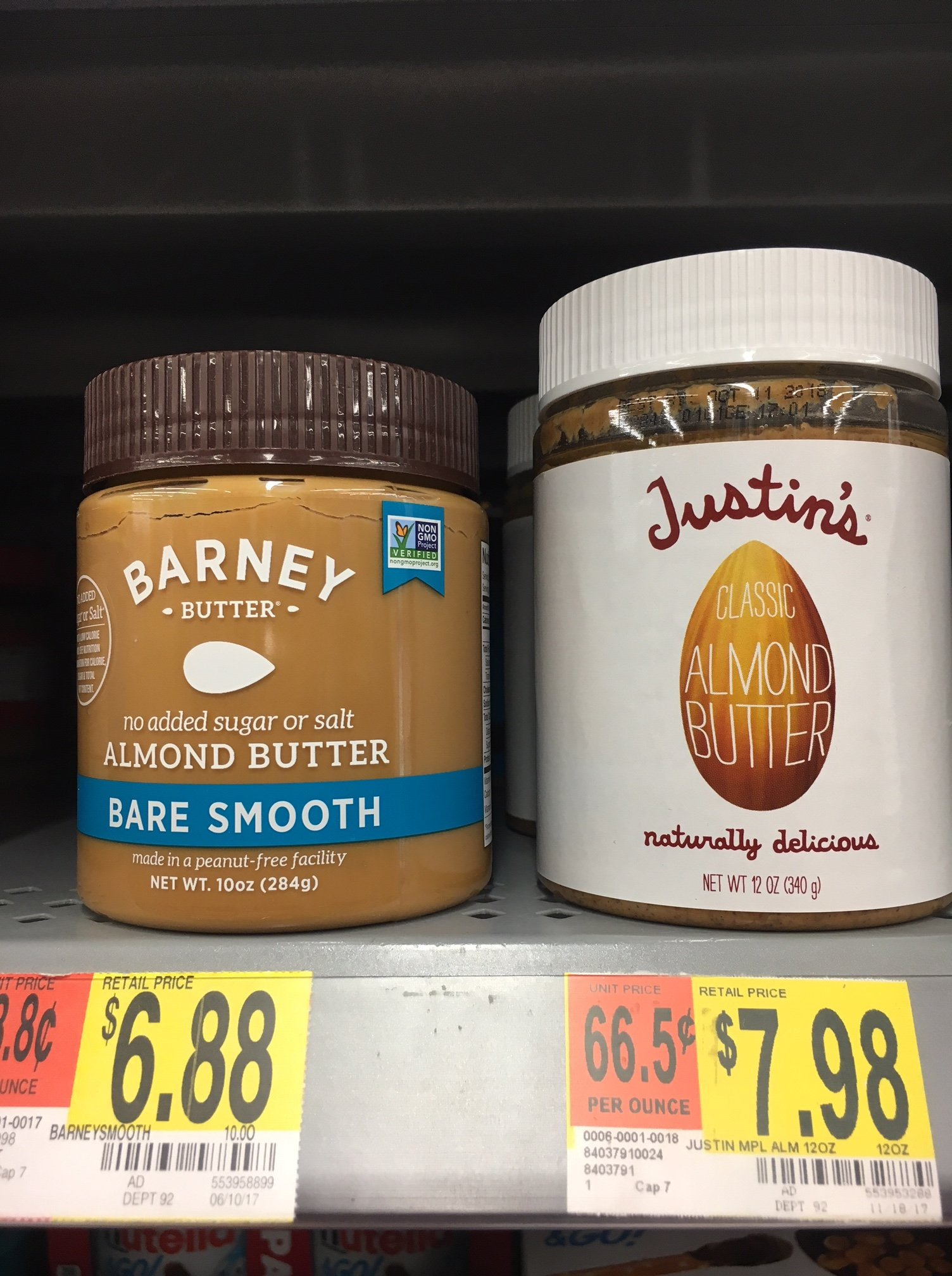 almond butter choices at walmart