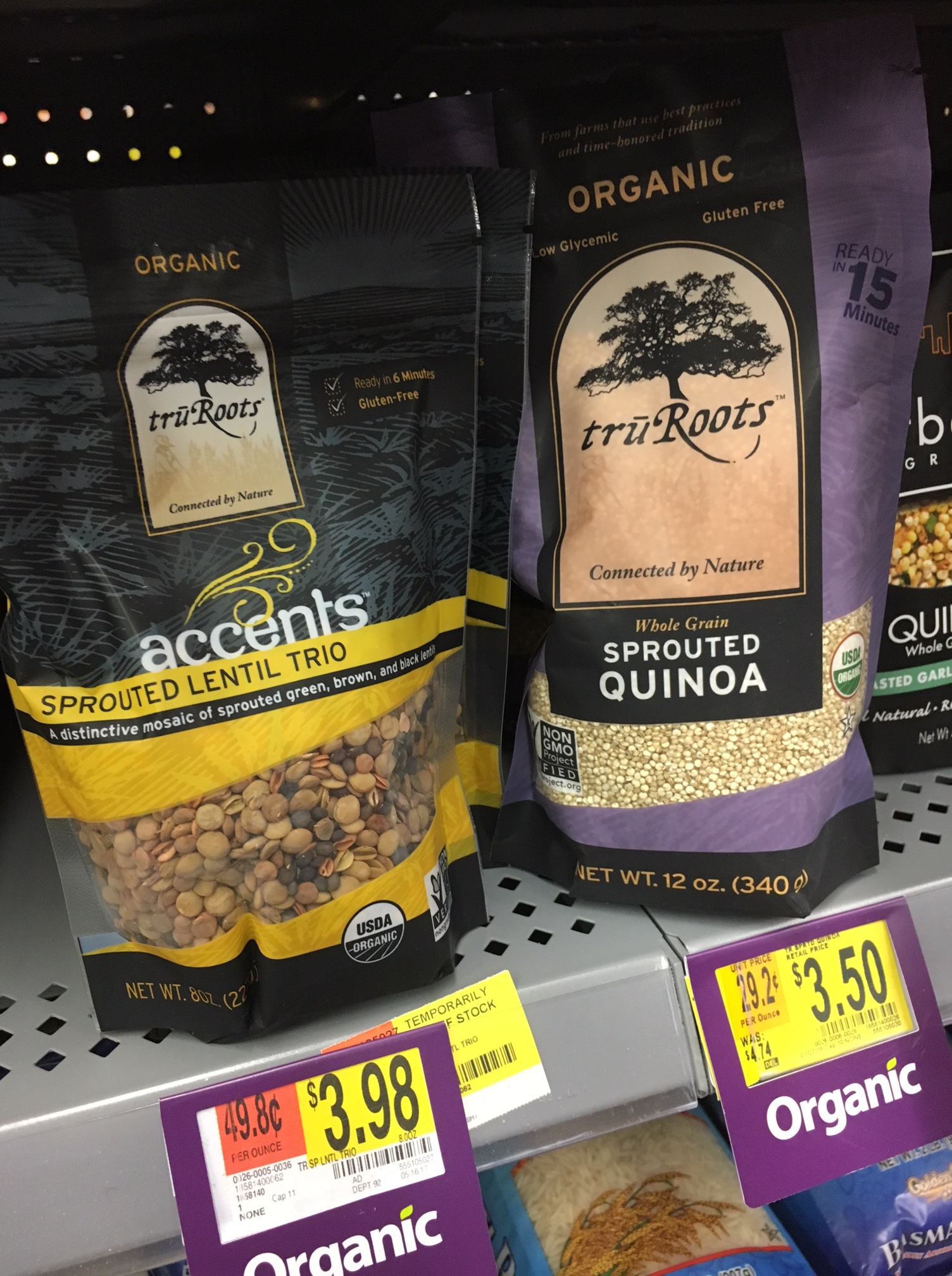 lentils and seeds at walmart