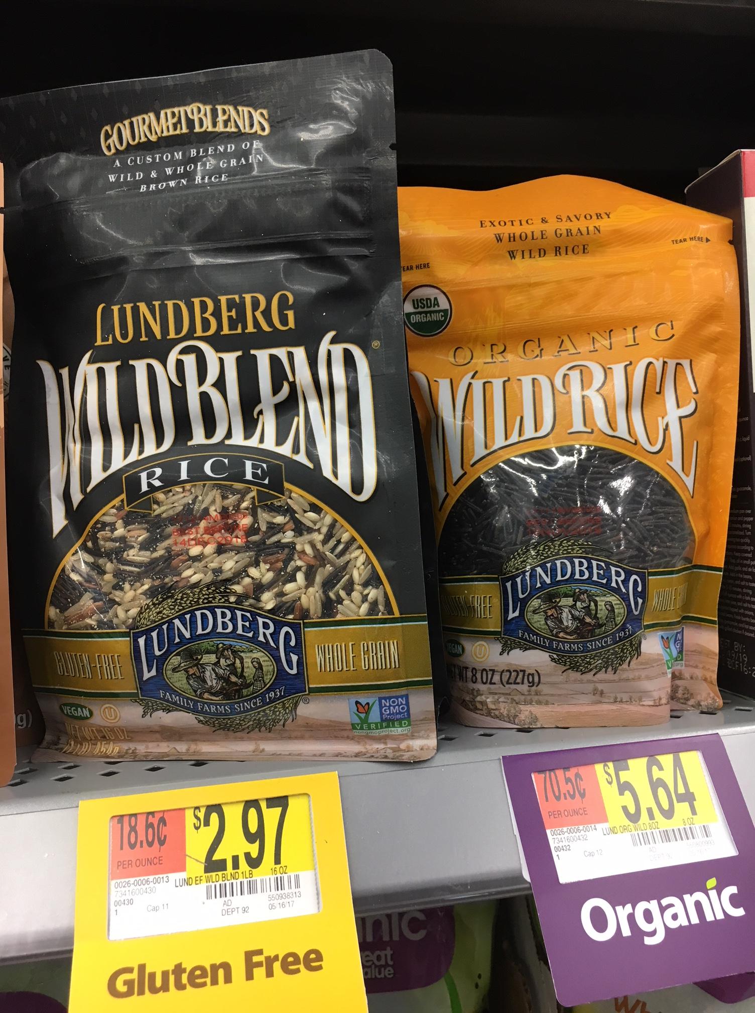Lundberg products at walmart