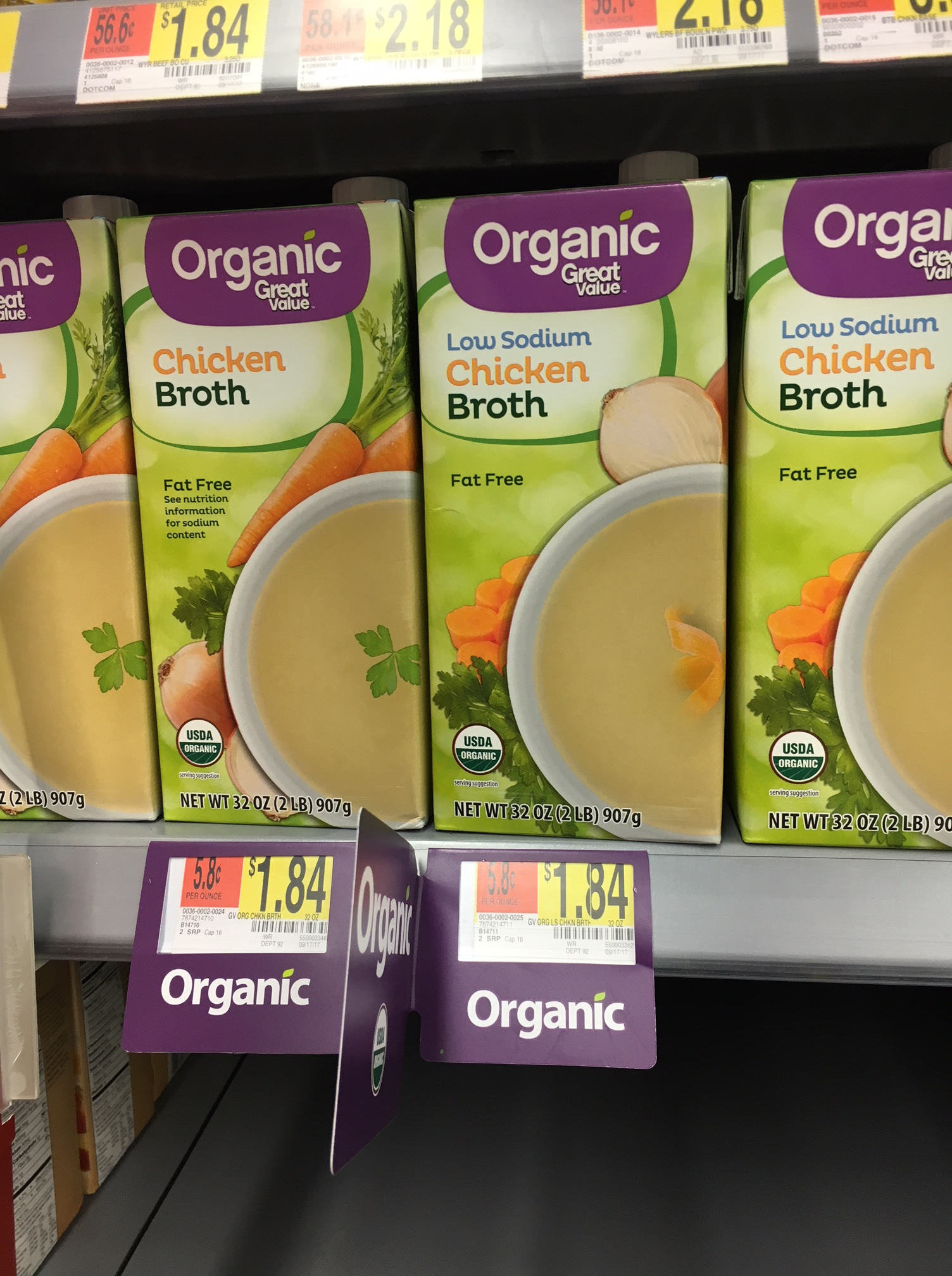 organic chicken broth at walmart