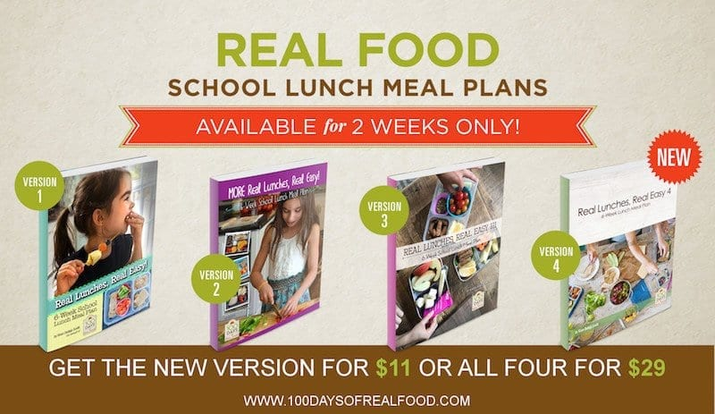 real food school lunch meal plans image