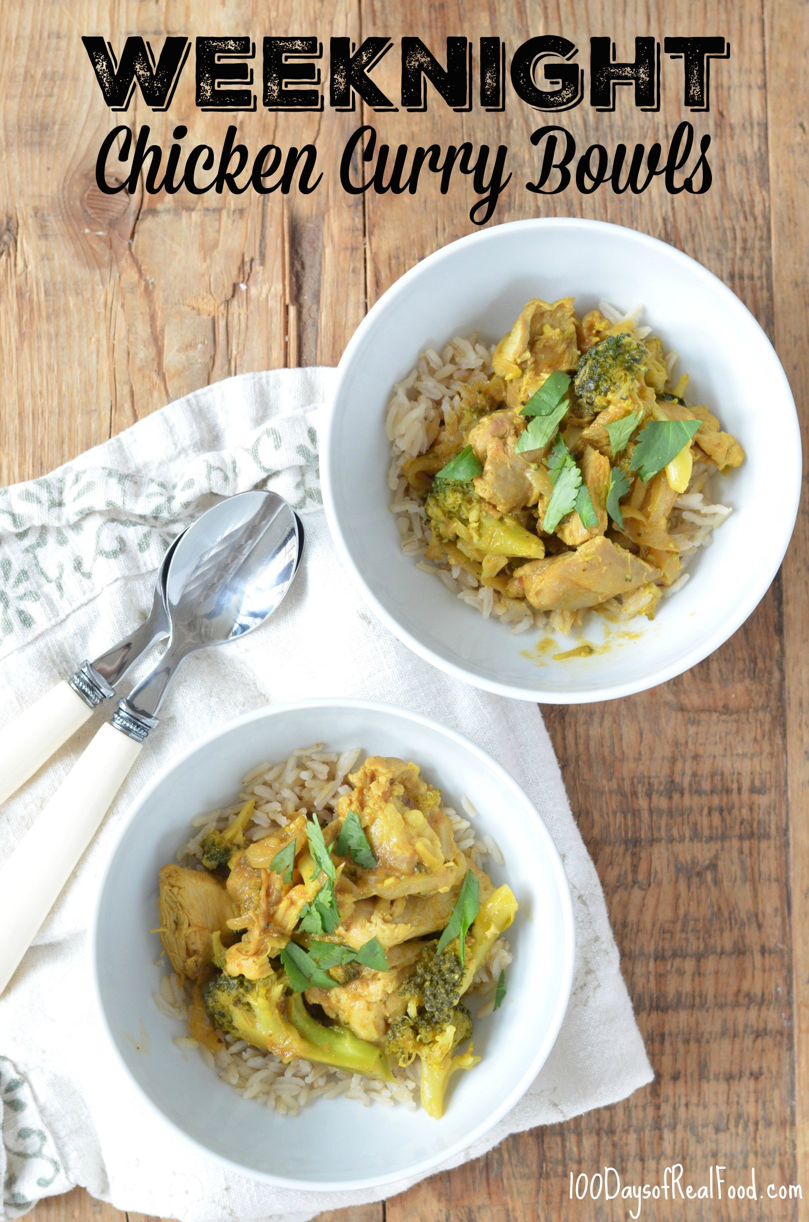 Weeknight Chicken Curry Bowls