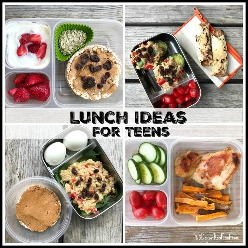 lunch ideas for teens by kiran 100 days of real food