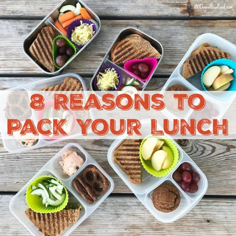 image of packed lunches with 8 Reasons to Pack Your Lunch