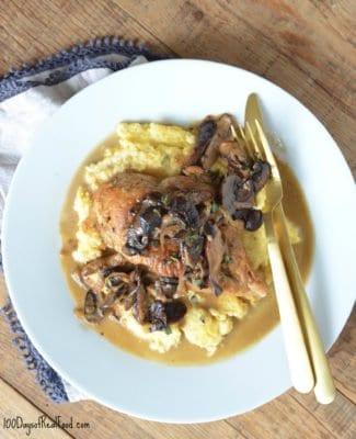 chicken and wild mushroom skillet
