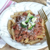 The BEST Meaty Spaghetti Sauce on 100 Days of Real Food