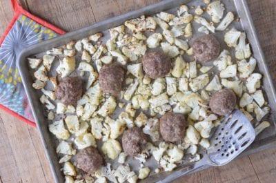 Sheet Pan Cumin Meatballs and Cauliflower
