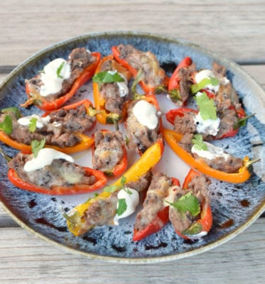 Stuffed Sweet Peppers on 100 Days of Real Food