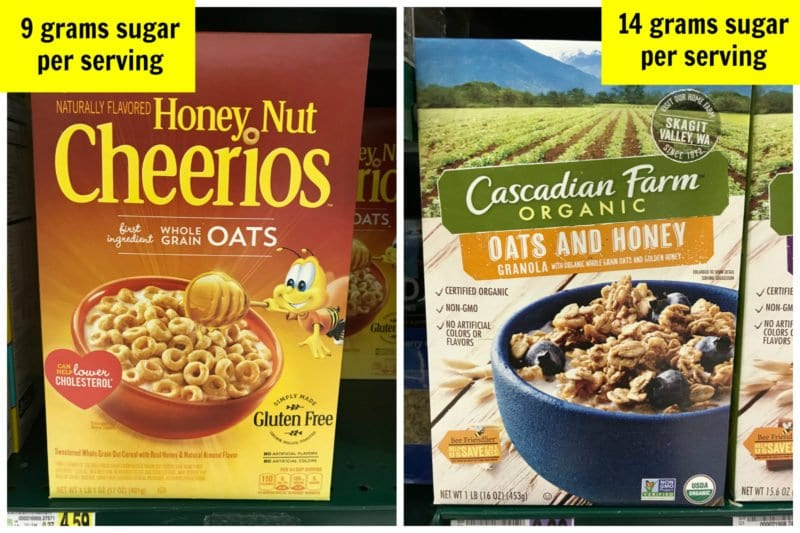 How much sugar is in cereals