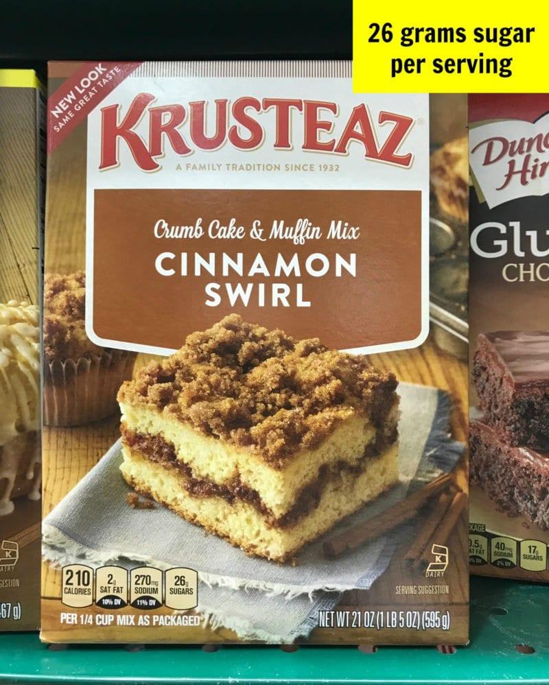 Sugar in crumb cake