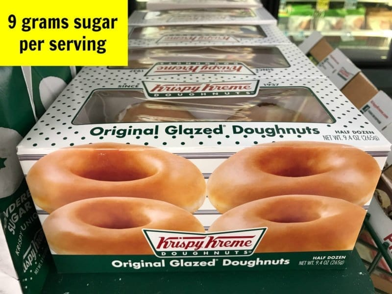How much sugar is in glazed doughnuts