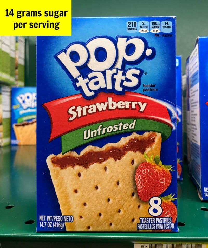 Sugar in Pop Tarts