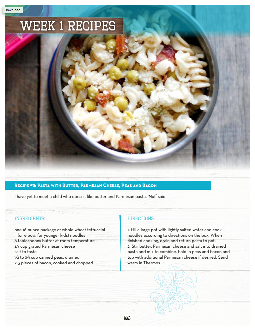 School Lunch Meal Plans 13