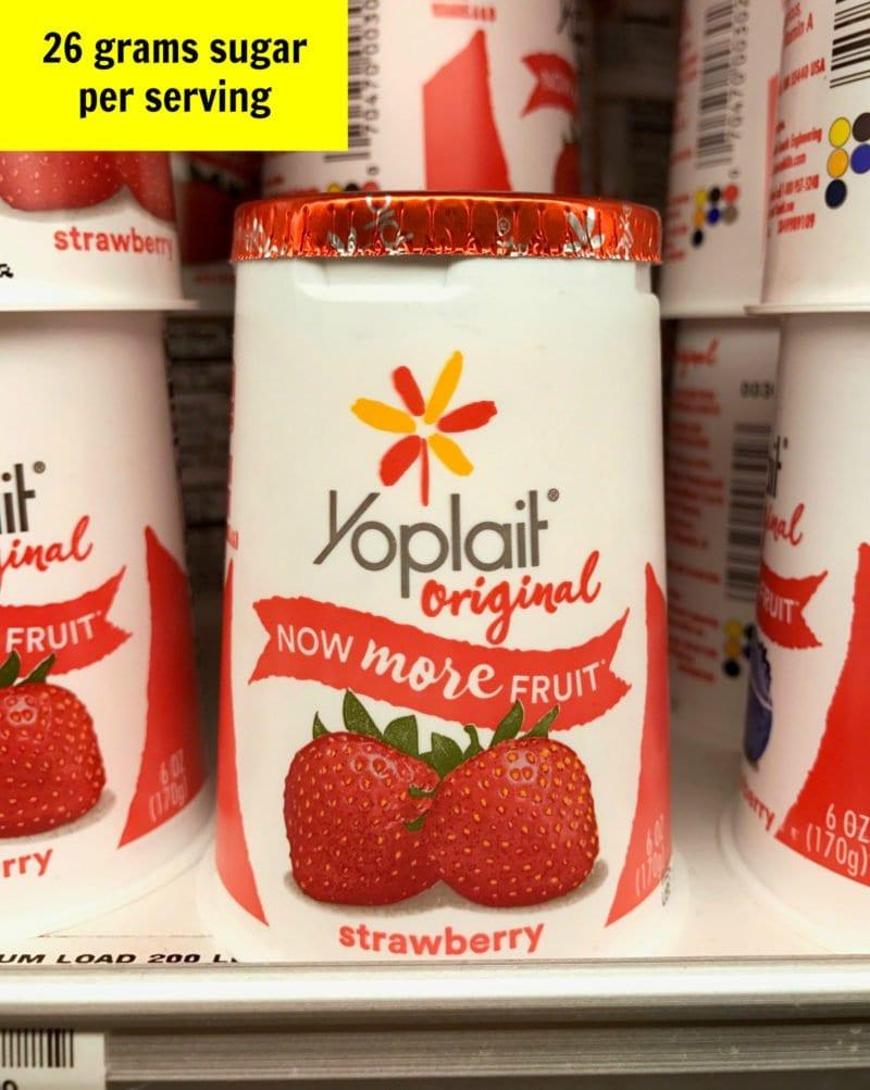 Sugar in Yoplait yogurt