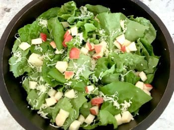 photo of apple and cheddar salad