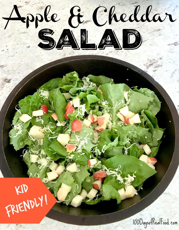 Apple and Cheddar Salad on 100 Days of Real Food