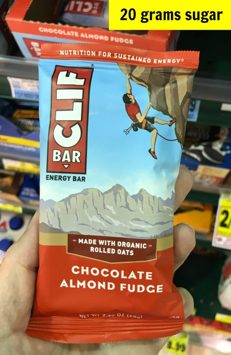 How much sugar is in Clif Bar chocolate almond fudge bar on 100 Days of Real Food