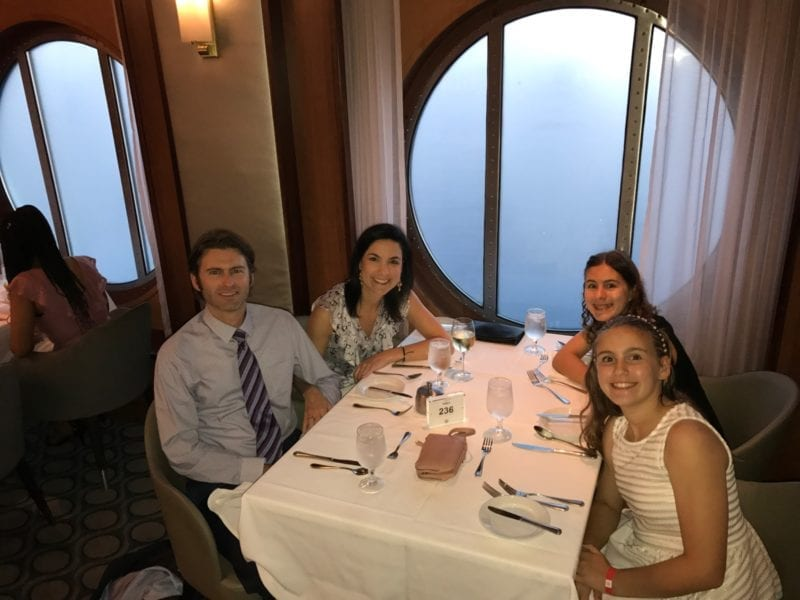 How to eat healthy on a cruise - photo of our family dining