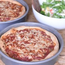 Deep Dish Pizza on 100 Days of Real Food