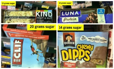 How much sugar is in your breakfast bar