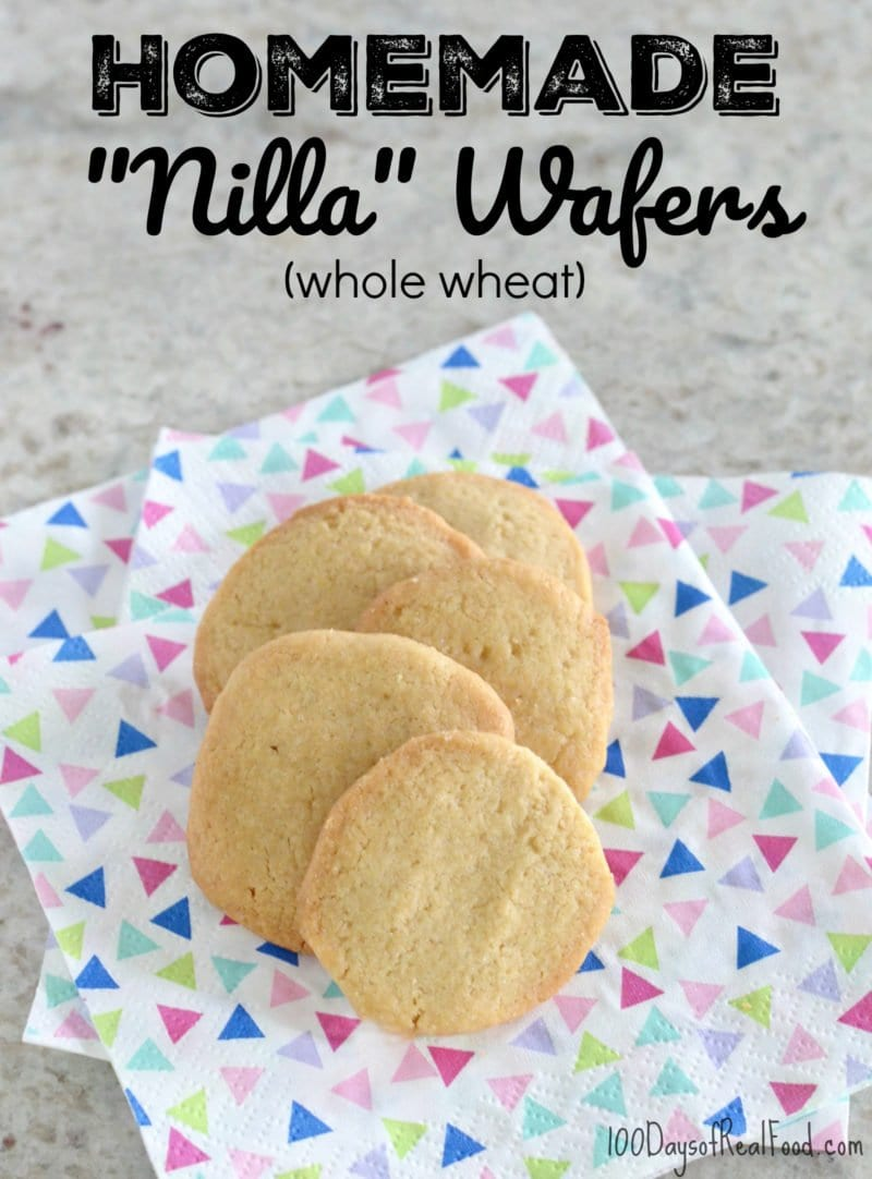 photo of homemade Nilla Wafers on 100 Days of Real Food