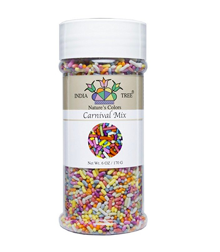 photo of India Tree dye-free sprinkles for unicorn cake