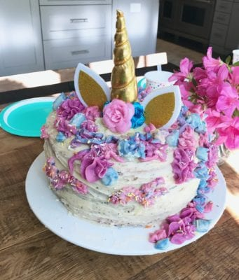How To Unicorn Cake on 100 Days of Real Food