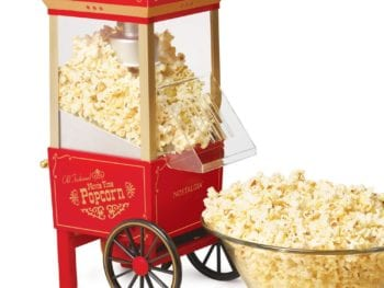 red nostalgia popcorn maker 350x263 - Whole Food Snacks for Kids and Adults