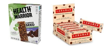 What Packaged Products I DO Buy - Health Warrior bars and LARABAR