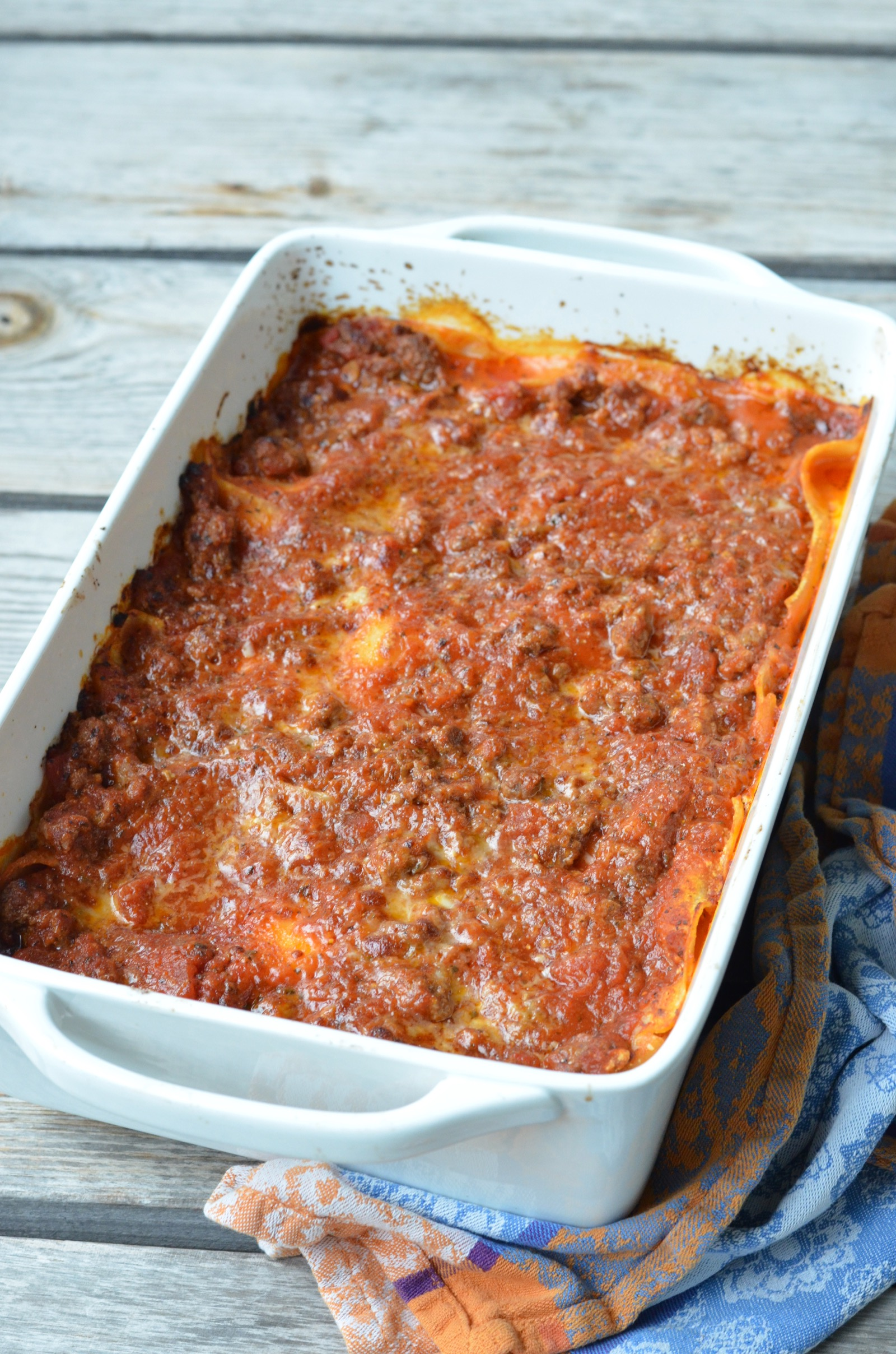 2785ea4d74b5 Easy Peasy Classic Lasagna Recipe » 100 Days of Real Food